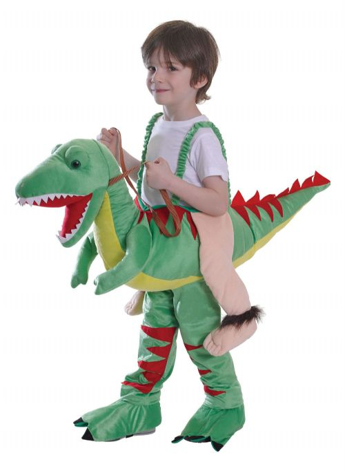Childs Riding Dinosaur Costume Fairytale Nursery Rhyme Fancy Dress Outfit